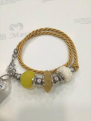 Bracciale donna Osa cod. 70104 giallo con ciondolo perla di murano