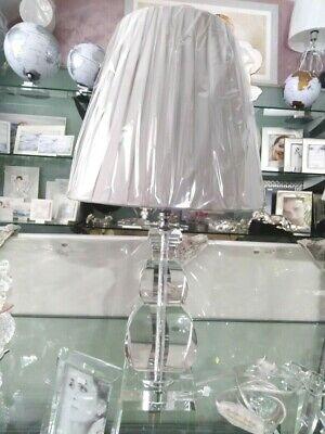 Lampada in cristallo con paralume in tessuto cod. racx4077 Ranoldi