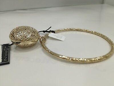 Bracciale rigido Zoppini in bronzo dorato con ciondolo L299_0600 listino 64