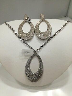 Parure donna collana con orecchini in bronzo rodiato Zoppini  listino 134