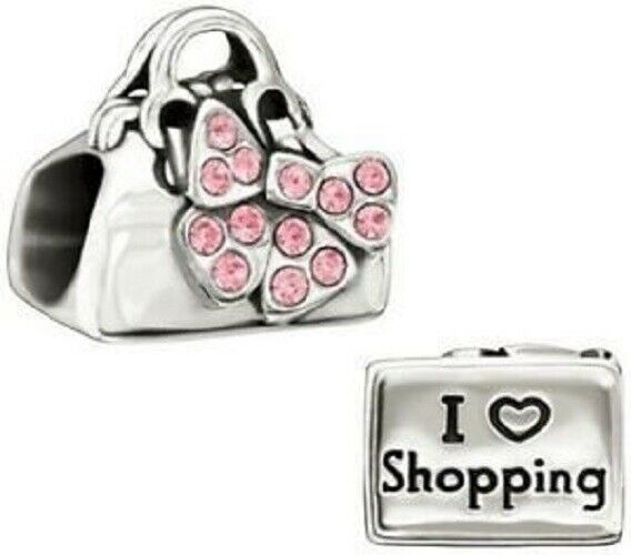 Chamilia Charm in argento Disney Minnie I Love Shopping  2025-0986
