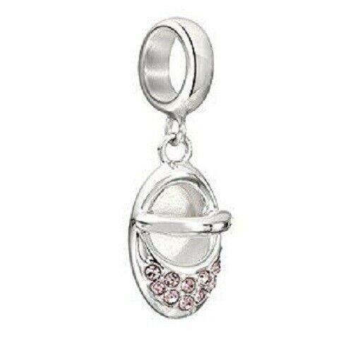 Chamilia Charm in argento 925 Scarpetta Baby Bimba con Swarovski 2025-1072
