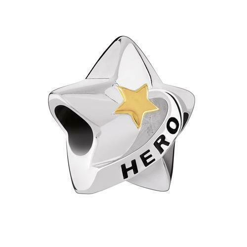 Chamilia Charm in argento 925 Hero Star Eroe 2025-1051