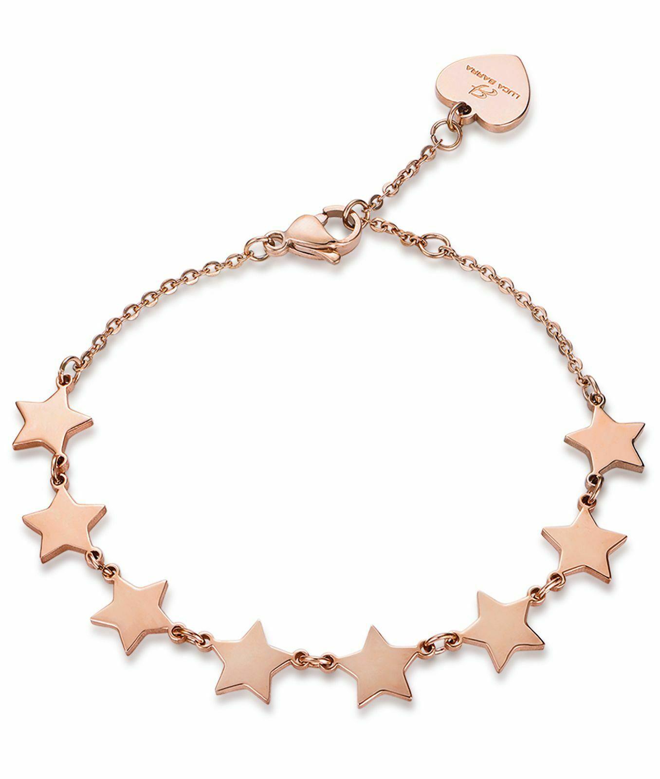 Bracciale donna in acciaio con stelle rosè  Luca Barra BK1741