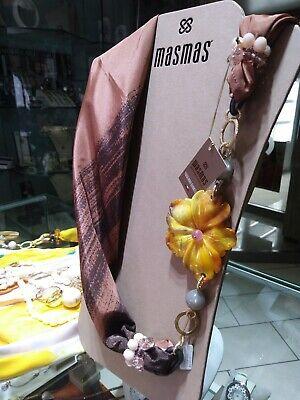 Foulard gioiello bordeauc con pietre dure  MasMas  Made in ITALY FOU