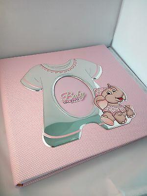 Album Portafoto Valenti Baby rosa con cornice laminata argento cod. 71711-3R