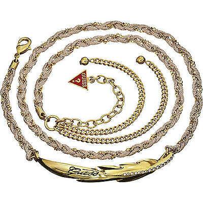 Triplo bracciale a catena intrecciata a corda Guess cod. UBB21346
