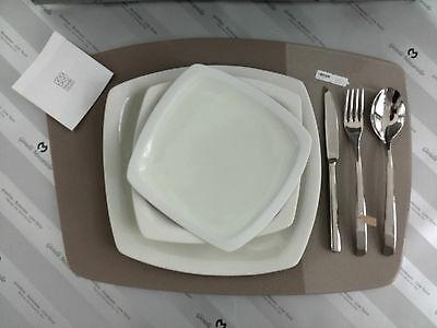 Tris piatti in grès porcellanato Lineasette cod. K301TR Arredo Moderno Made In Italy