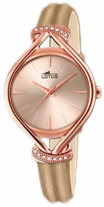 Orologio donna con cinturino in pelle rosa Lotus cod. 18400/2