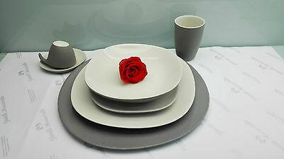 Kit tavola per due persone Lineasette in grès porcellanato cod. K655 Made In Italy