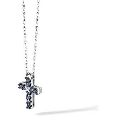 Collana con croce uomo oro con zaffiri blu Comete Gioielli UGL457 LISTINO 428