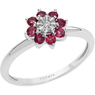 Anello in oro bianco750% con rubino diamanti Comete Gioielli ANB2378