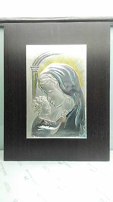 Quadro/Icona Acca Maternità argento/legno cod. 409H.65