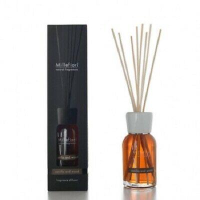 Diffusore di fragranza con bastoncini Millefiori Milano vanilla and wood 250 ml 7DD