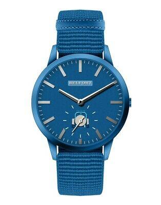 Orologio da uomo con cinturino blu elastico regolabile City 02