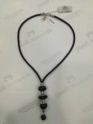 Collana donna Osa cod. 70102 nero con ciondolo perla di murano