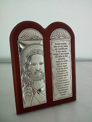 Icona Sacra con Padre Nostro in legno cod. ogg18.00