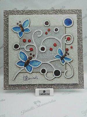 Formella con piedino Cartapietra- Farfalla cod. PCF23121AZ Collezione Memini