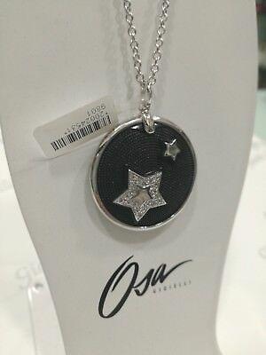 Collama donna Osa cod. 9801 con ciondolo nero con stella