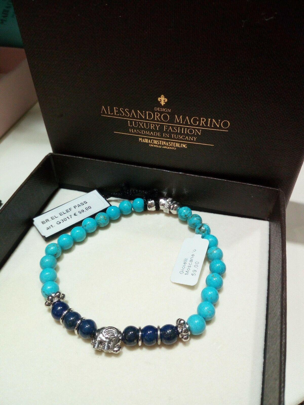 Bracciale Maria Cristina Sterling Argento Ebano e Aulite G3017