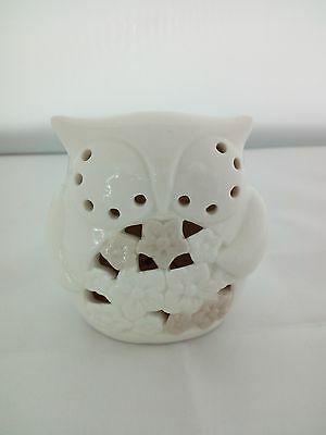 Lampada/ luce notturna gufetto in ceramica Kharma Living cod. A7545