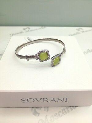 Bracciale rigido donna Sovrani Eden Line con cristalli smeraldo J3108