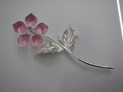 Fiore laminato argento con madreperla e sacchetto incluso