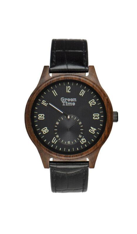 Orologio uomo in legno ed ecopelle Green Time ZW096A