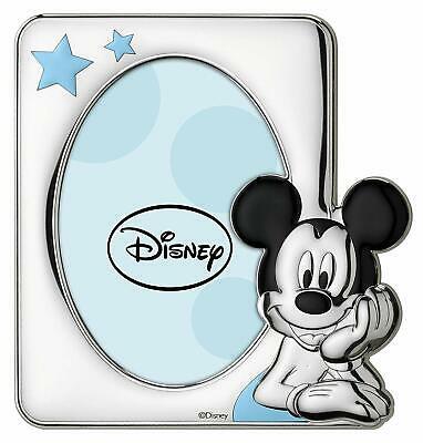 Regalo bimbo Portafoto Disney laminato argento Mickey Mouse Topolino D1034LC