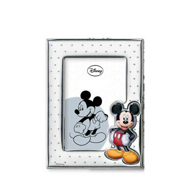 Regalo bimbo Portafoto Disney laminato argento Mickey Mouse Topolino D2944LC