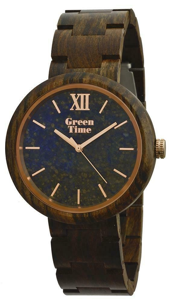 Orologio uomo in legno sandalo Stone Lapis Green Time ZW083F