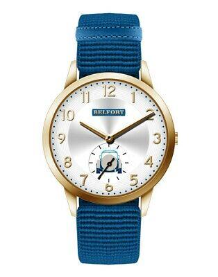 Orologio da uomo con cinturino elastico blu Belfort City 04