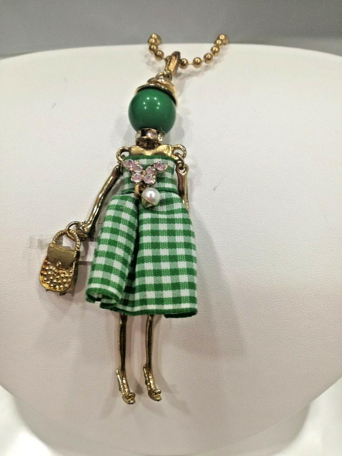 Collana donna con pendente ballerina (verde) Manuel Zed Q2315 LISTINO 30