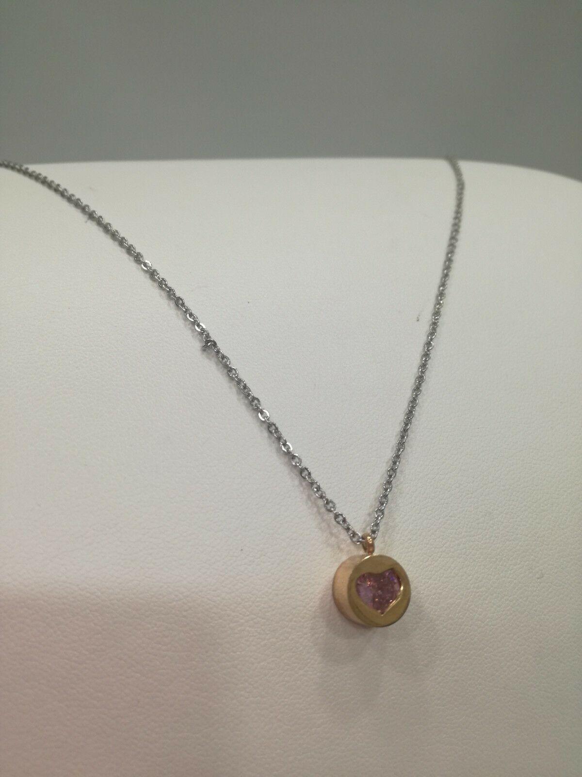 Collana donna con ciondolo swarovski cuore  Q2292_0177