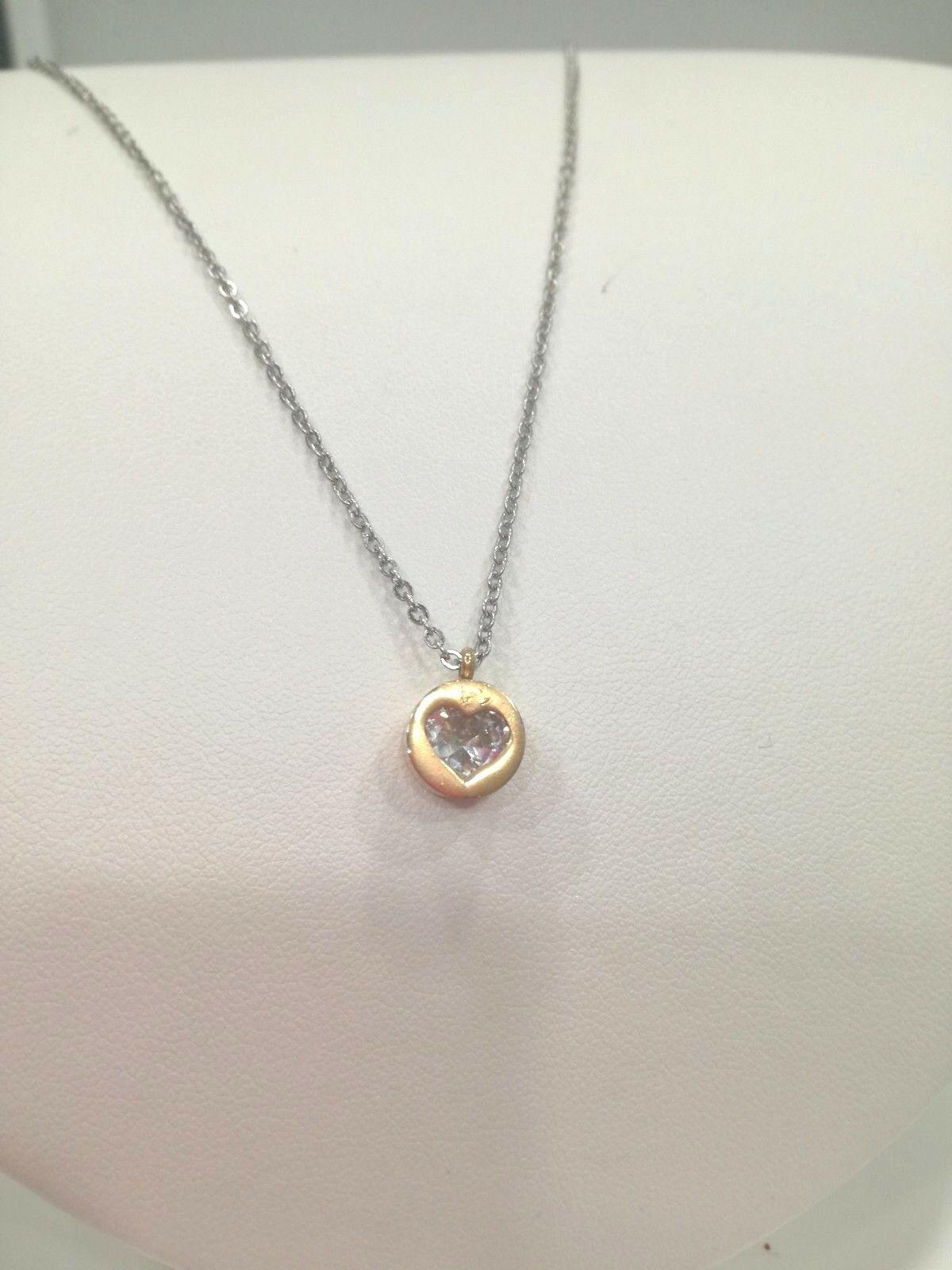Collana donna con ciondolo swarovski cuore  bianco Q2292_0174