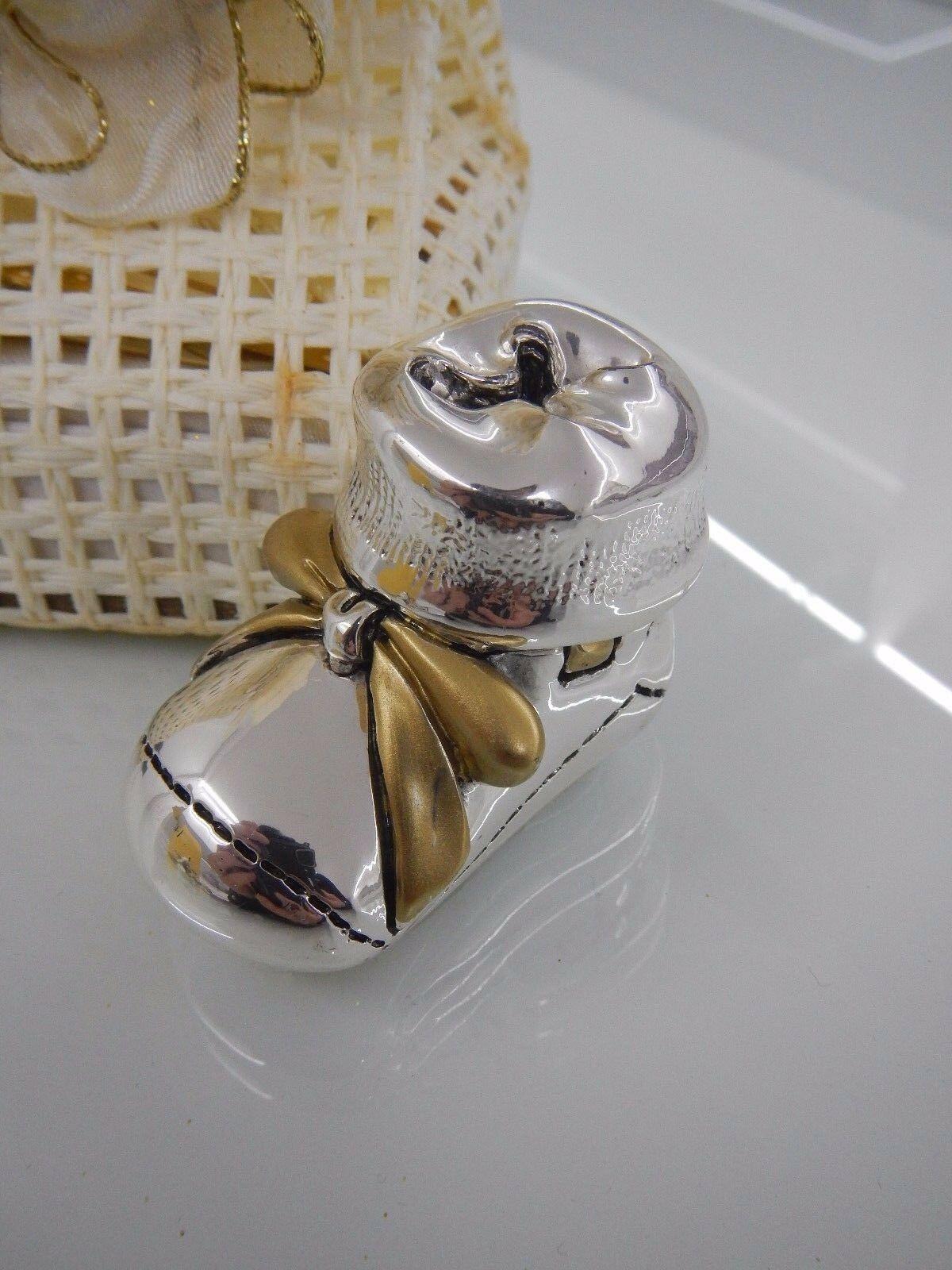 Scarpetta laminata argento Valenti Lucky Gold con sacchetto