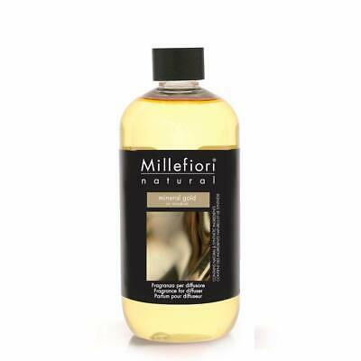 Millefiori Milano Ricarica 500 ml Fragranza Mineral Gold cod. 2020