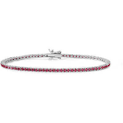 Bracciale donna Gioielli Comete Tennis cristalli rubino BRA172 M17