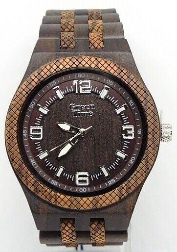 Orologio uomo in legno sandalo e zebrano Green Time ZW113C