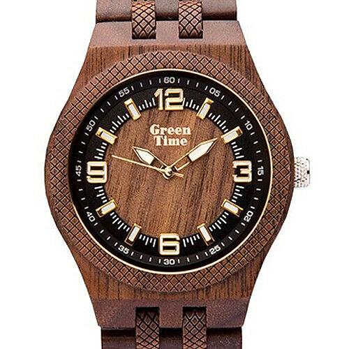 Orologio uomo in legno Walnut Green Time ZW113B
