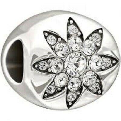 Chamilia Charm in argento 925 Blessed 2025-1012 con Swarovski bianchi