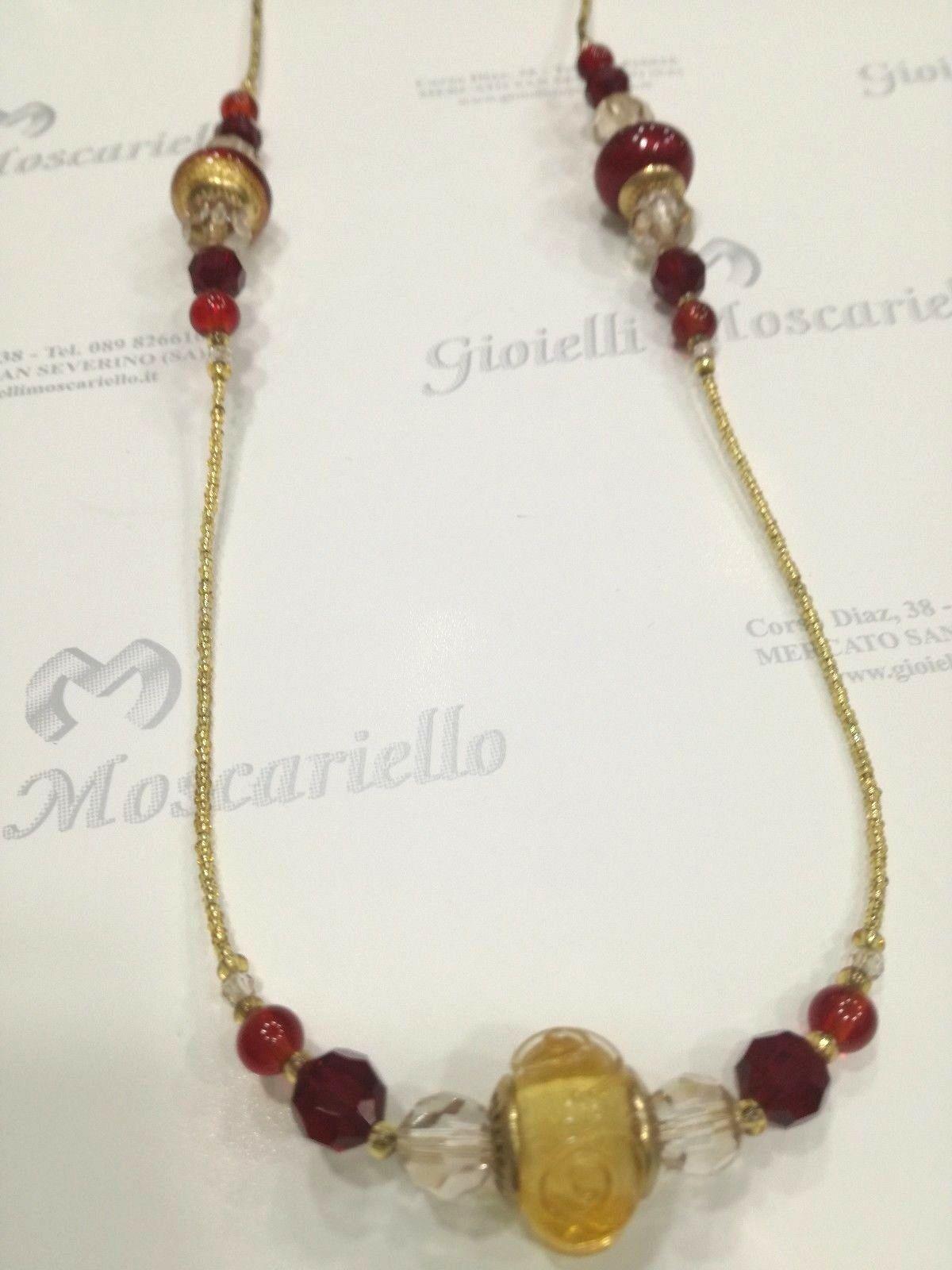 Collana donna lunga  La Murrina classica 74012 murano bordeaux Listino 89,90