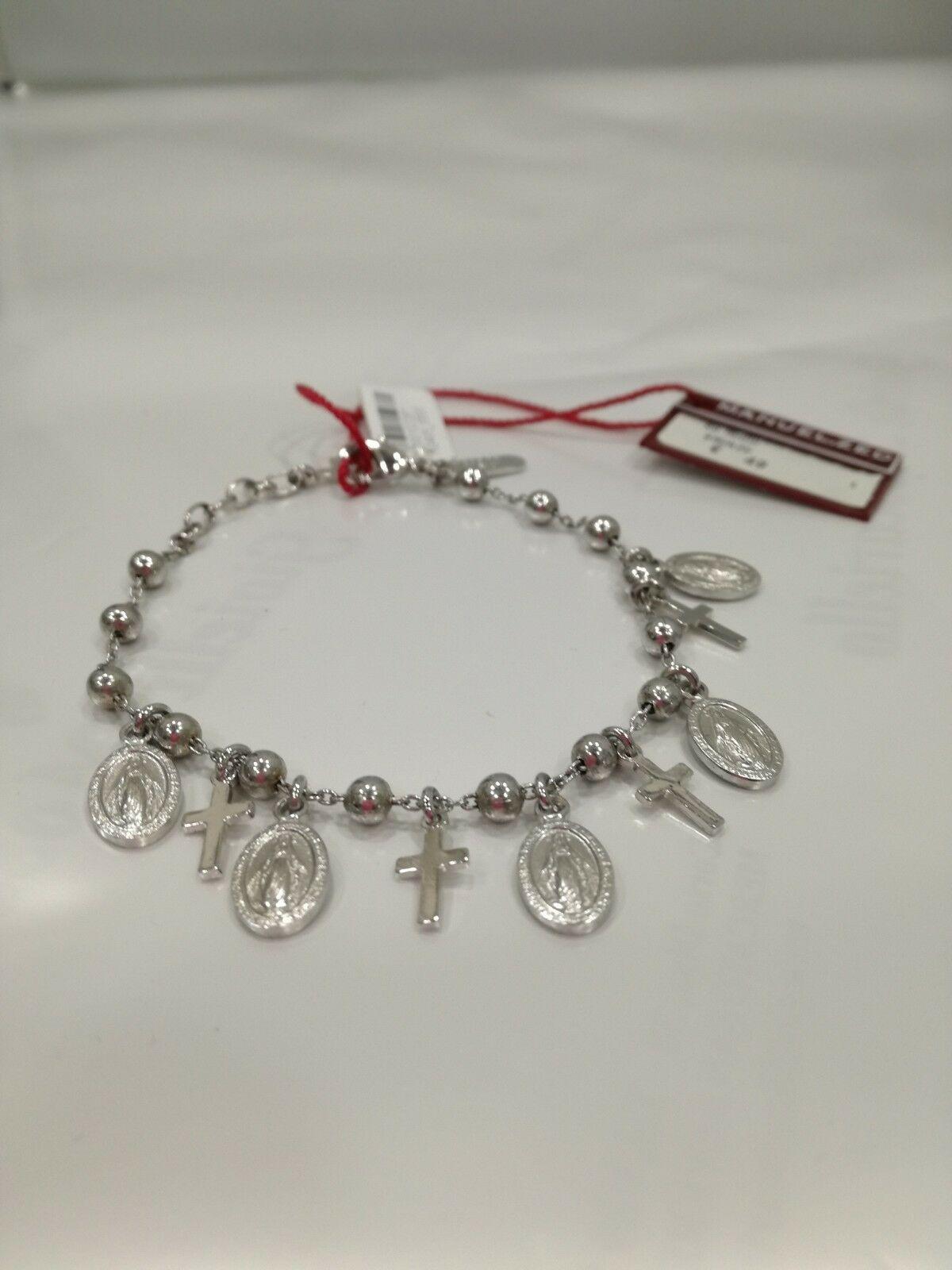 Bracciale donna Manuel Zed rosario con ciondoli sacri H2405_5500 LISTINO 49