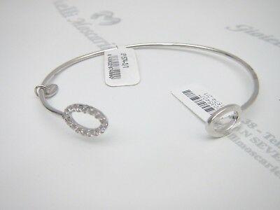 Bracciale rigido donna in argento 925 con strass  Lotus Silver  cod. LP1574-2/1