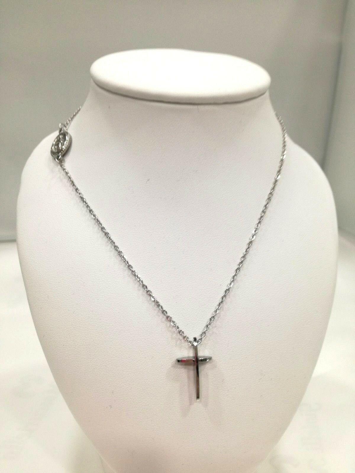 Collana sacra donna Manuel Zed con croce in acciaio Q2311_5500
