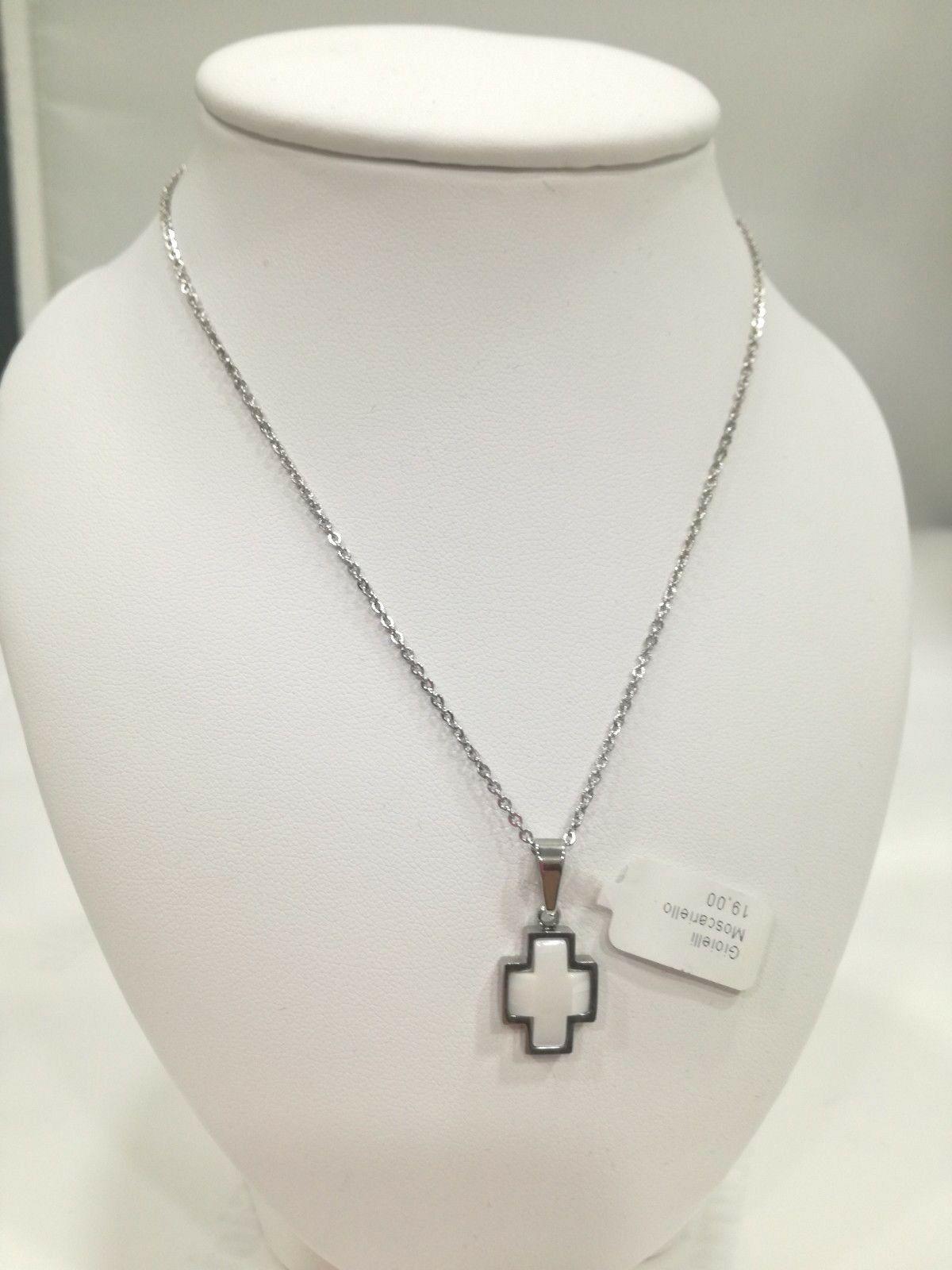 Collana sacra donna Manuel Zed con croce in ceramica Q2310_0004