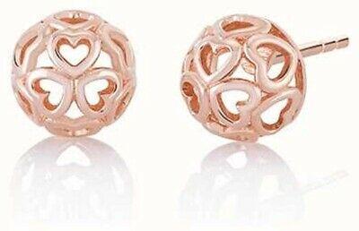 Chamilia Orecchini Blush  argento 925 sfere rosè con cuori 1315-0014