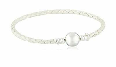 Chamilia Disney Bracciale per charms in pelle bianca e argento 925 1030-0142