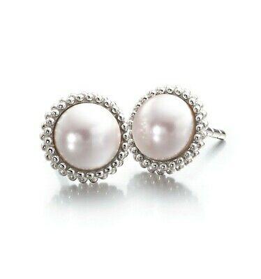 Chamilia Orecchini in argento 925 tondi con mezza perla 1314-0001