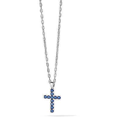 Collana uomo Gioielli Comete Tennis in argento 925 con croce tennis blu ugl689